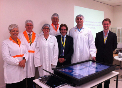 Demonstration of TableTop software at Kraft Foods Ringwood